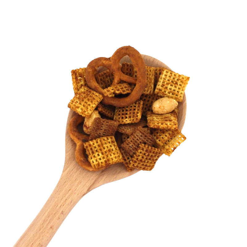 Healthy Homemade Peanut Chex Mix (Oil-Free, Gluten-Free Option, Vegan, Sugar-Free)