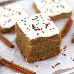 Healthy Gingerbread Cake Bars