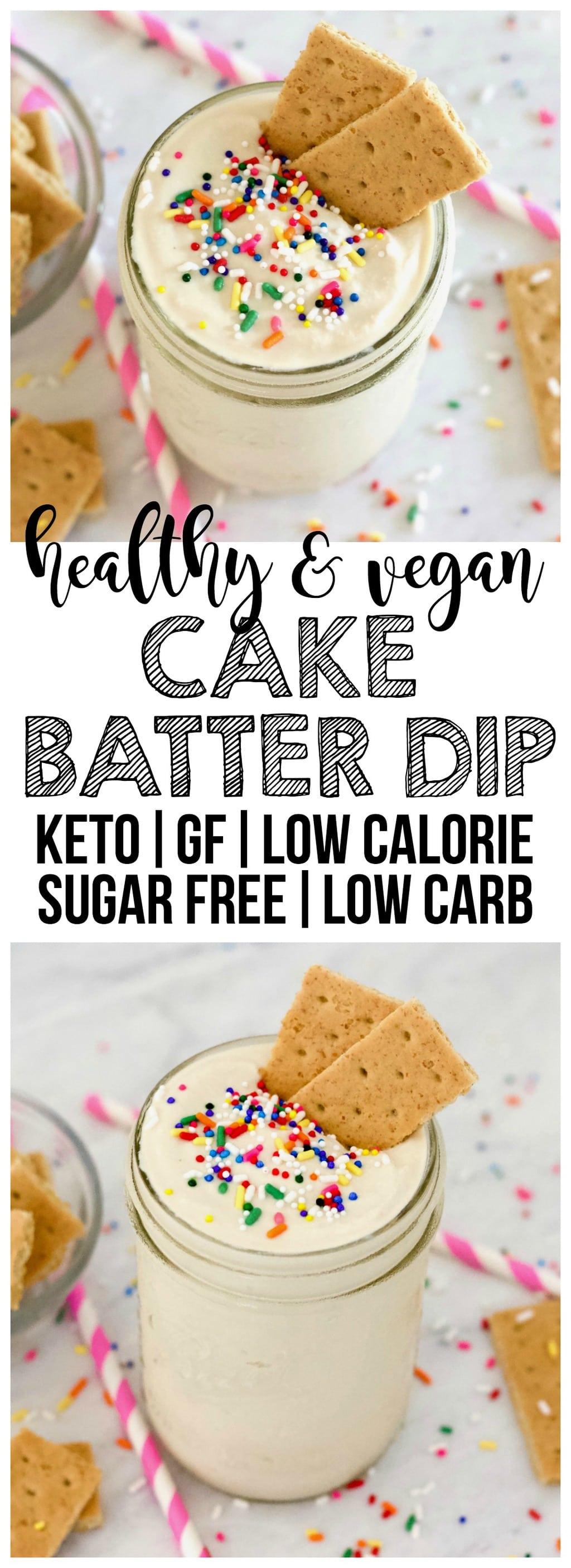 Vegan Cake Batter Dip Keto Sugar Free Gluten Free
