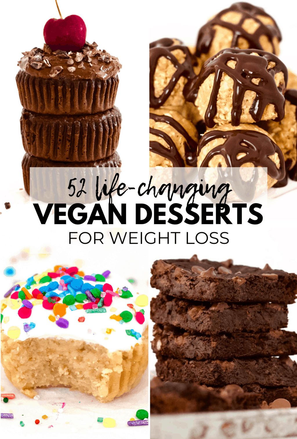 Here is a DELICIOUS collection of 50+ AMAZING Vegan Desserts for Weight Loss! All recipes are gluten-free, dairy-free & low-calorie – under 100 calories each! These recipes will make sure that you can still indulge your sweet tooth while achieving your weight loss goals.