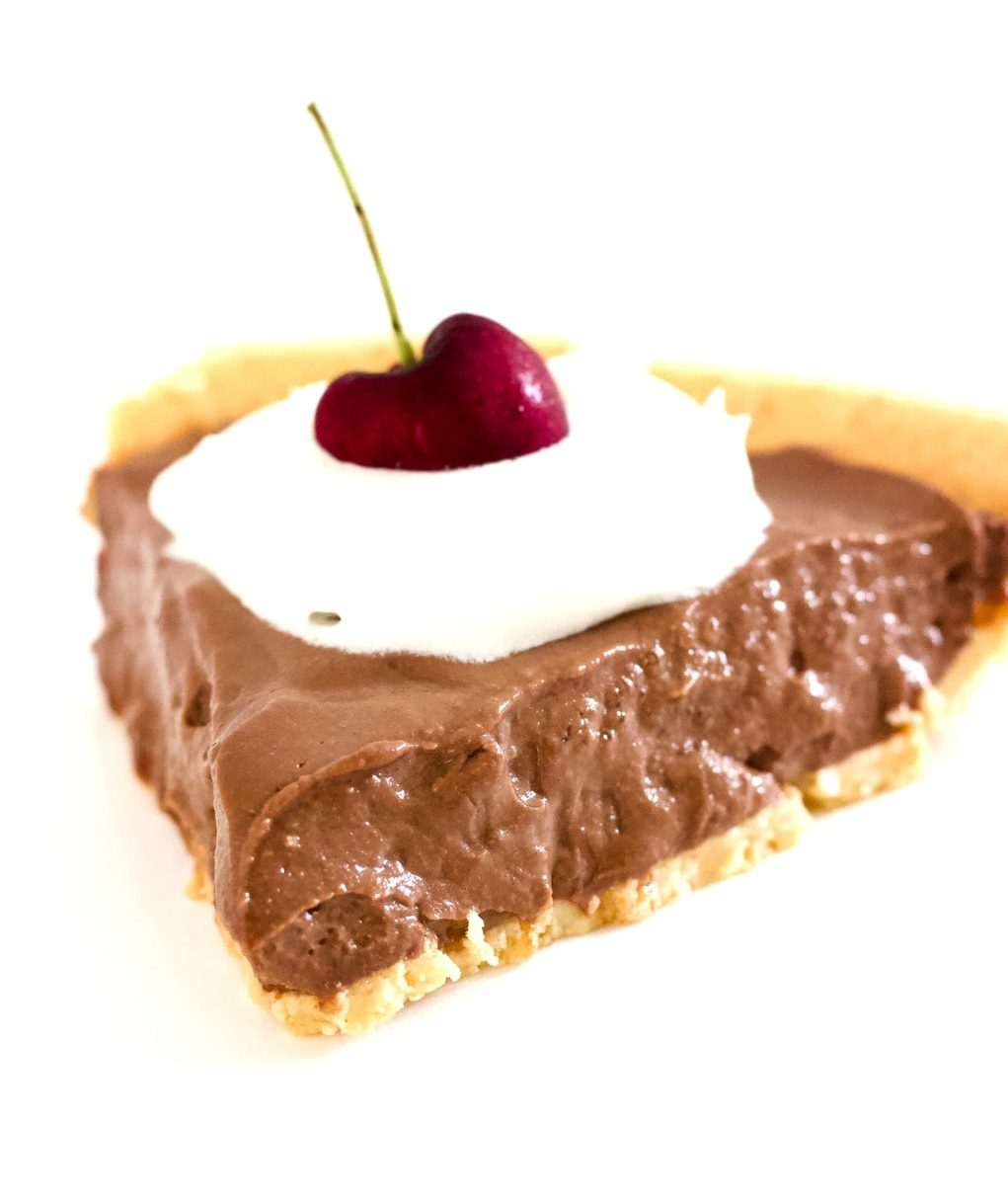 This Keto Vegan Chocolate Cream Pie is absolutely AMAZING! It's super easy to make and requires less than 10 minutes to throw together. Gluten-free, dairy-free, oil-free, low-carb, and just pure chocolate deliciousness.
