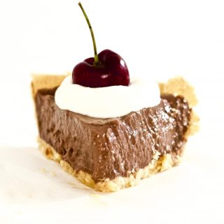 This Keto Vegan Chocolate Cream Pie is absolutely AMAZING! It's super easy to make and requires less than 10 minutes to throw together. Gluten-free, dairy-free, oil-free, and just pure chocolate deliciousness.