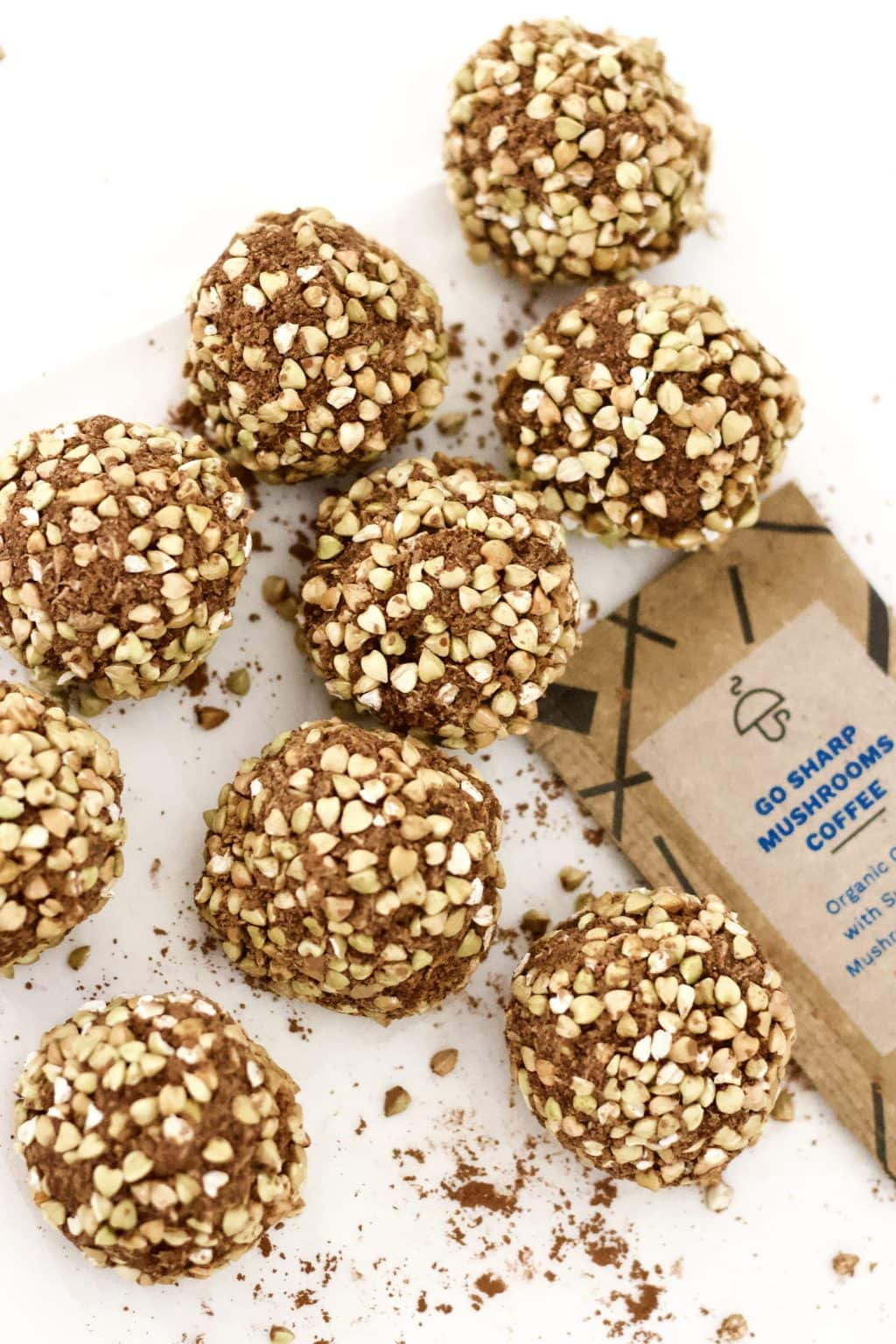 These No-Bake Superfood Mocha Crunch Bites are the perfectly delicious energy-boosting snack! They are super easy to make and totally delish - vegan, keto, gluten-free, sugar-free, oil-free, low-carb, and low-calorie - less than 60 calories each!!